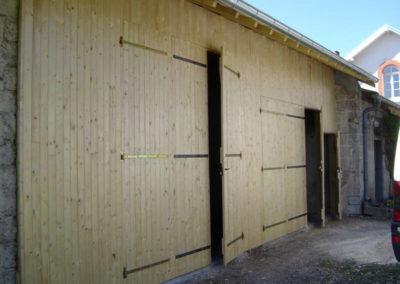 Porte de garage battante bois