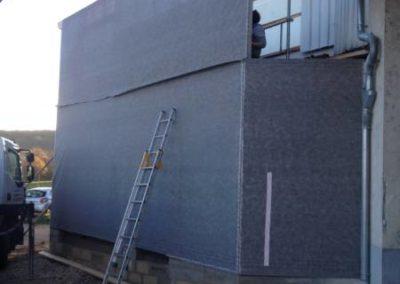 Pose de murs ossature bois