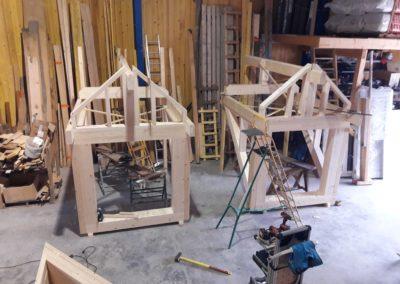 Préfabrication de mansardes en atelier